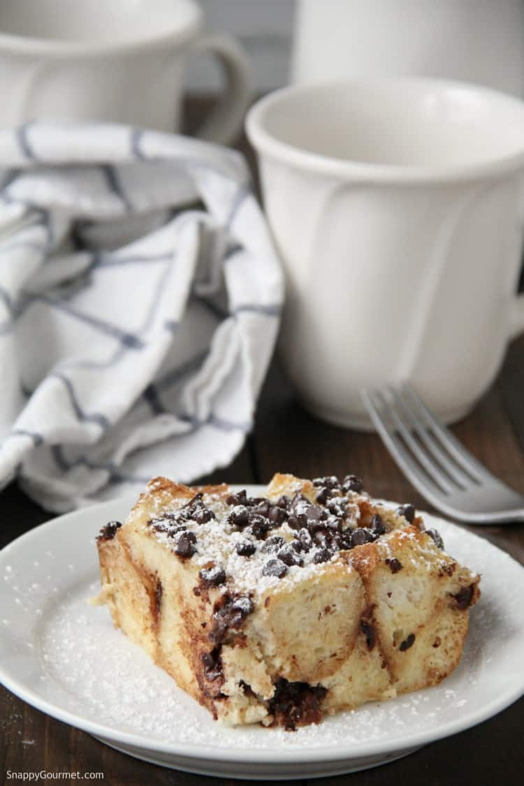 cannoli french toast on plate with fork and coffee cup