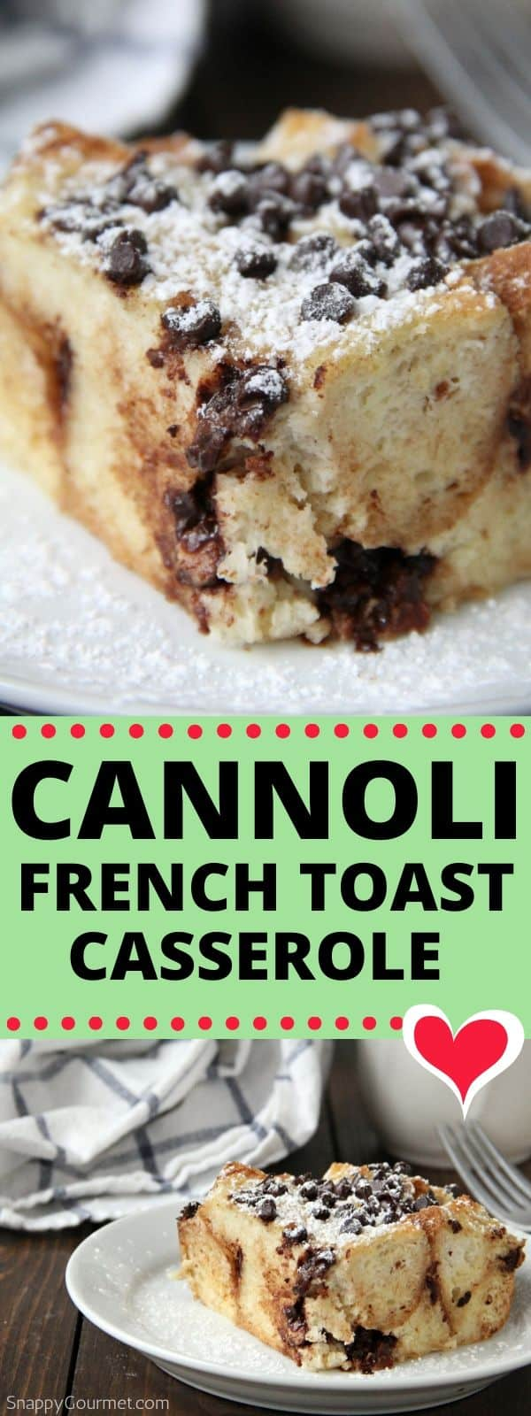 cannoli french toast collage