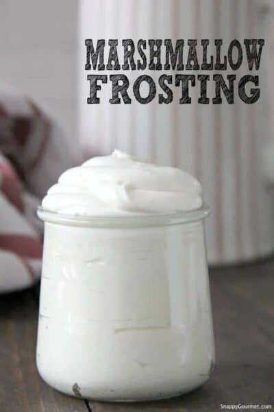 marshmallow frosting in jar