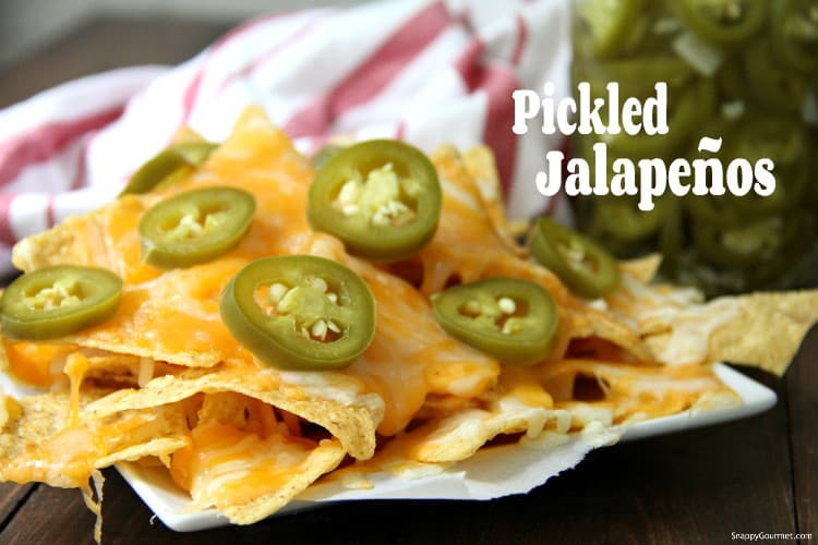 Pickled Jalapenos on nachos