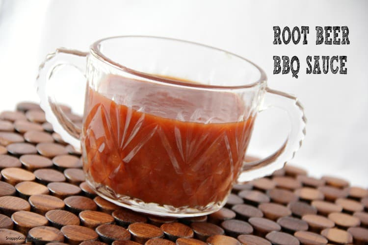 root beer bbq sauce in glass jar