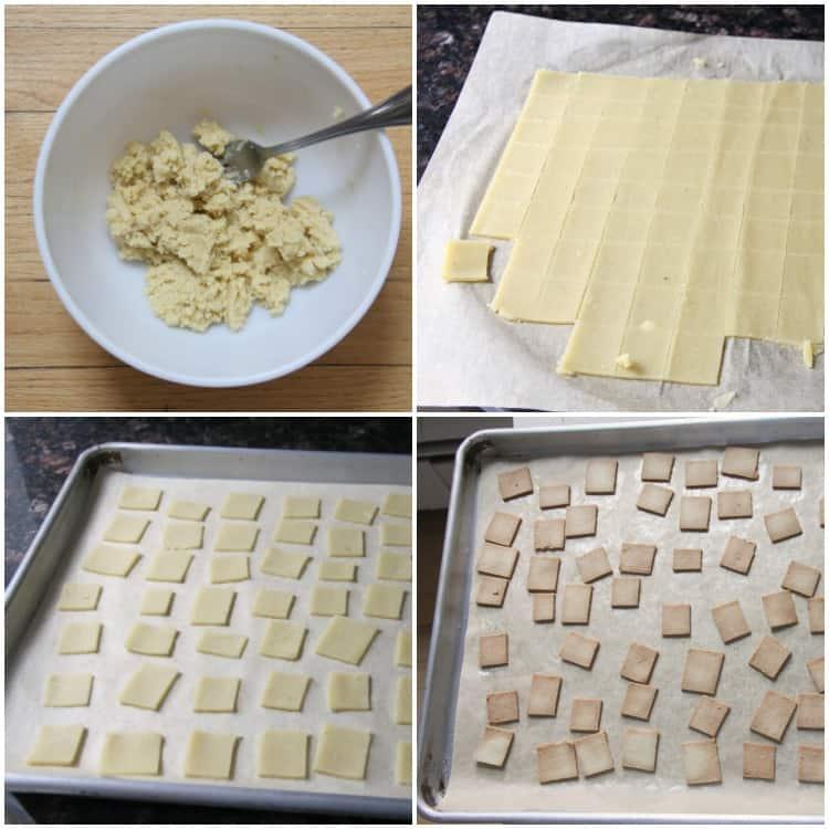 process steps for how to make almond flour cracker