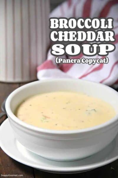 homemade Panera copycat Broccoli Cheddar Soup in bowl