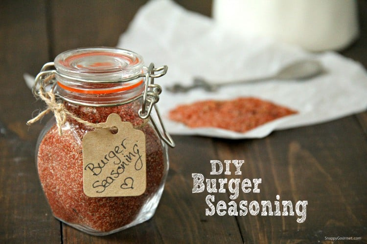 homemade burger seasoning in glass jar