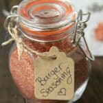 glass jar with burger seasoning