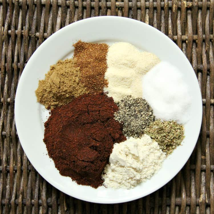 chili seasoning spices on plate
