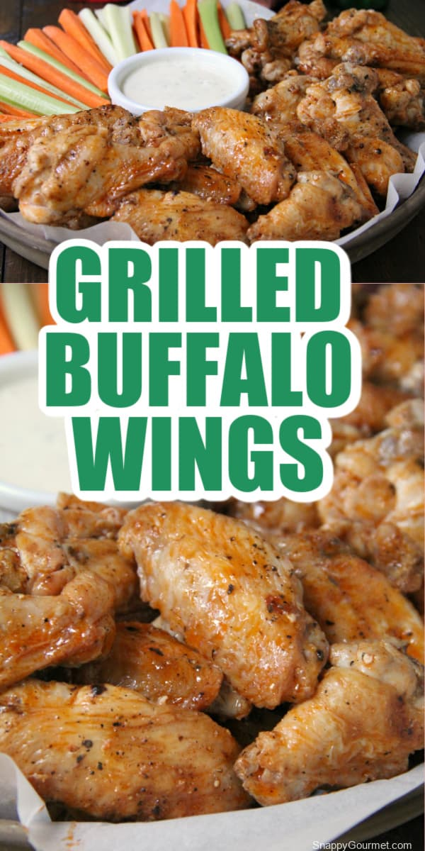 collage of grilled buffalo wings