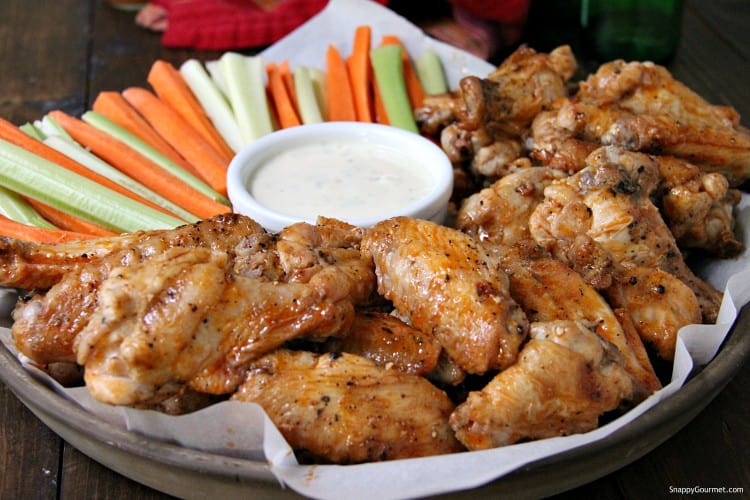 grilled buffalo wings with ranch