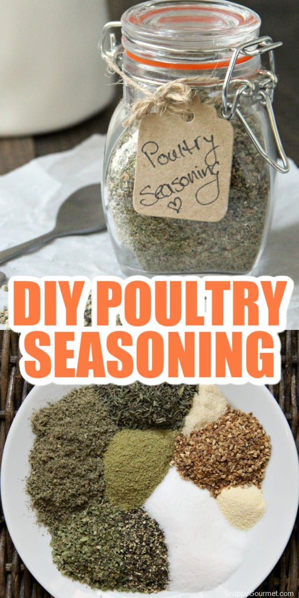 collage of poultry seasoning