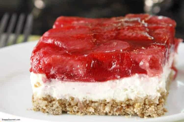 closeup of dessert bars