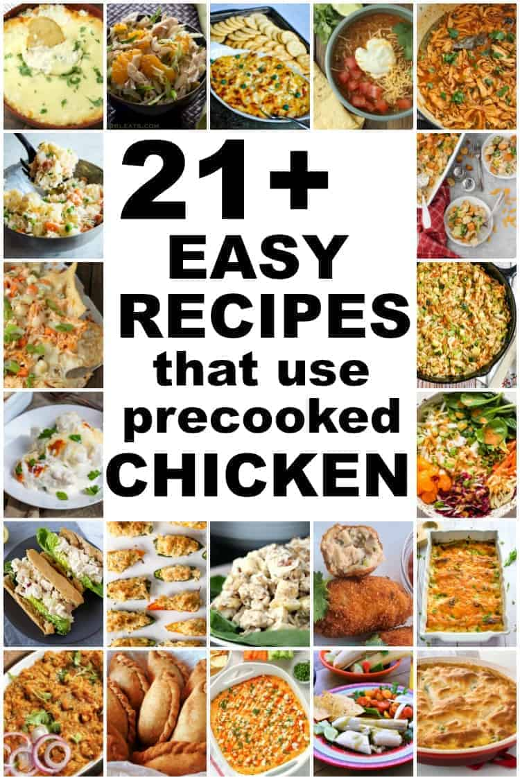 collage of boiled chicken recipes