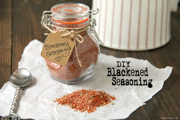 glass jar with blackened seasoning