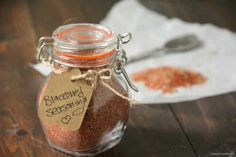 blackened seasoning in glass jar