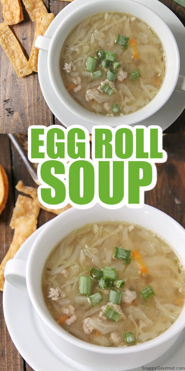 collage egg roll soup