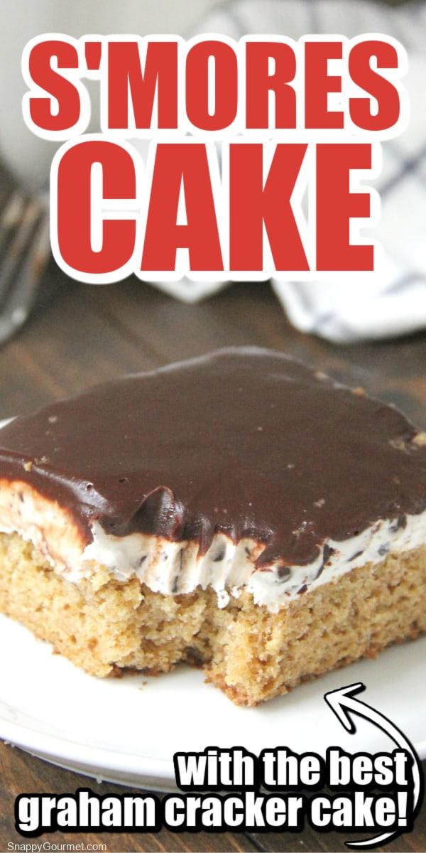 closeup of S'mores Cake
