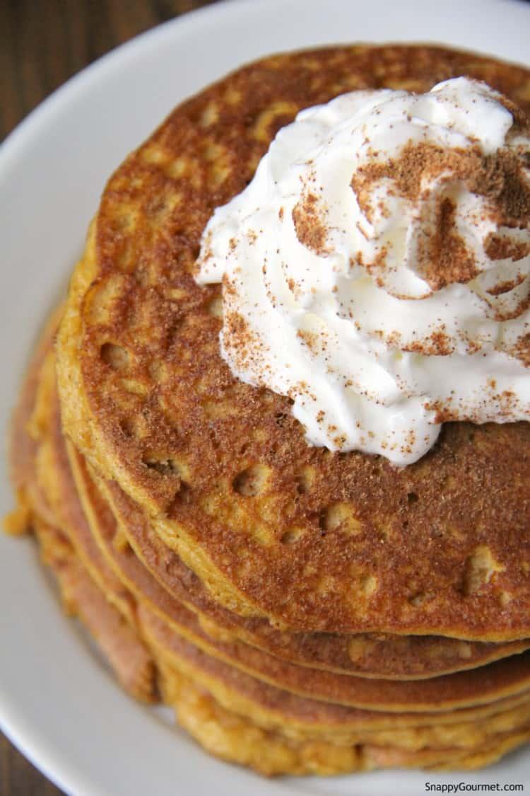 top of almond flour pumpkin pancakes