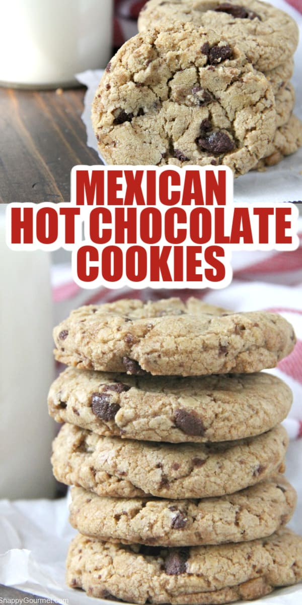 Mexican Hot Chocolate Cookies collage