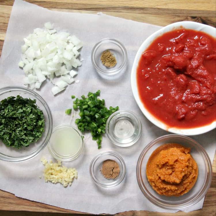 Pumpkin Salsa ingredients