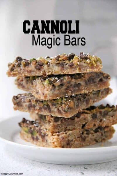 stacked cookie bars on plate
