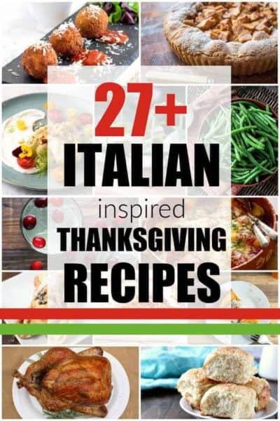photo collage of Italian Thanksgiving dishes