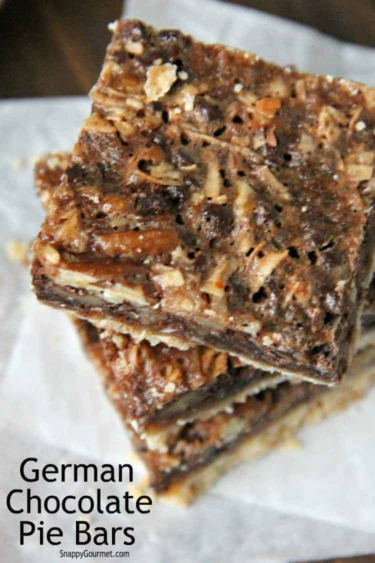 crackly top of German Chocolate Pie Bars