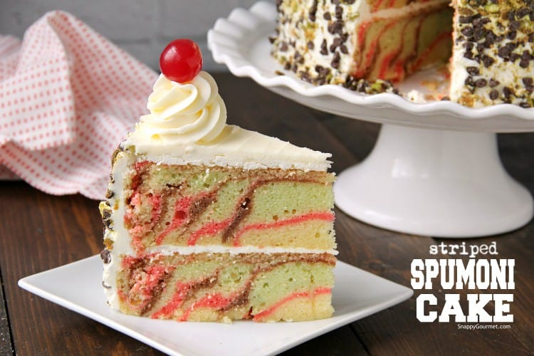slice of layered cake