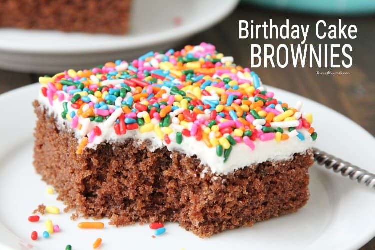 bite out of birthday brownie