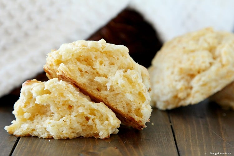 cheddar drop biscuits split open