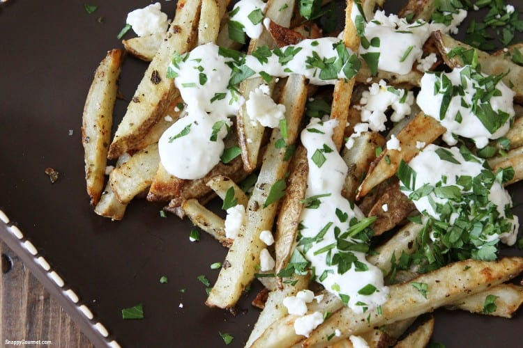 baked fries on plate