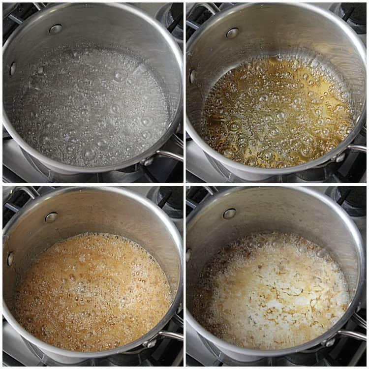 steps to how to make homemade caramel
