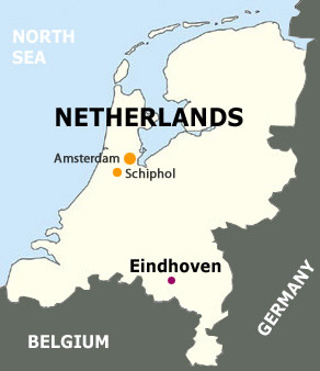 Mapa Eindhoven