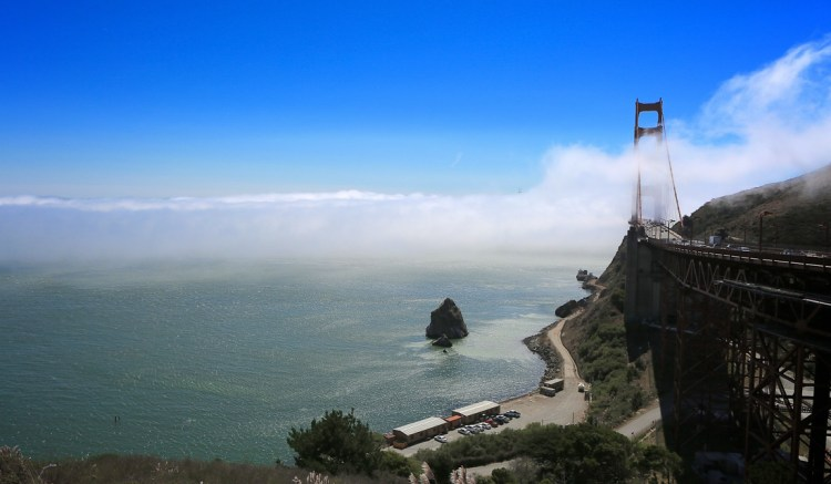 Driving from San Francisco to Monterey Golden Gate Bridge