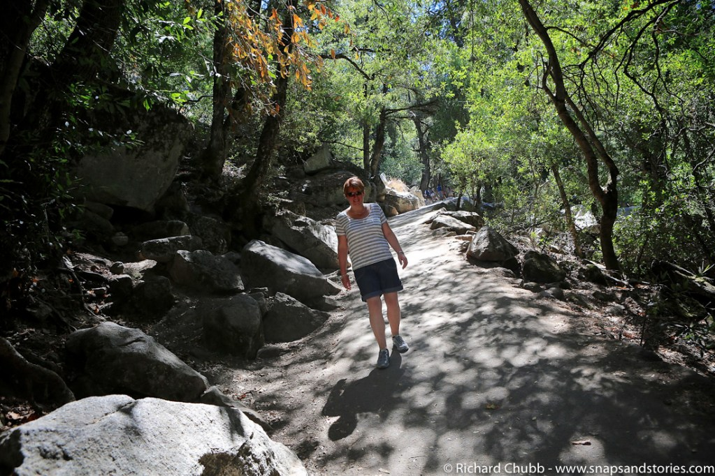 Hike down from Vernal Falls