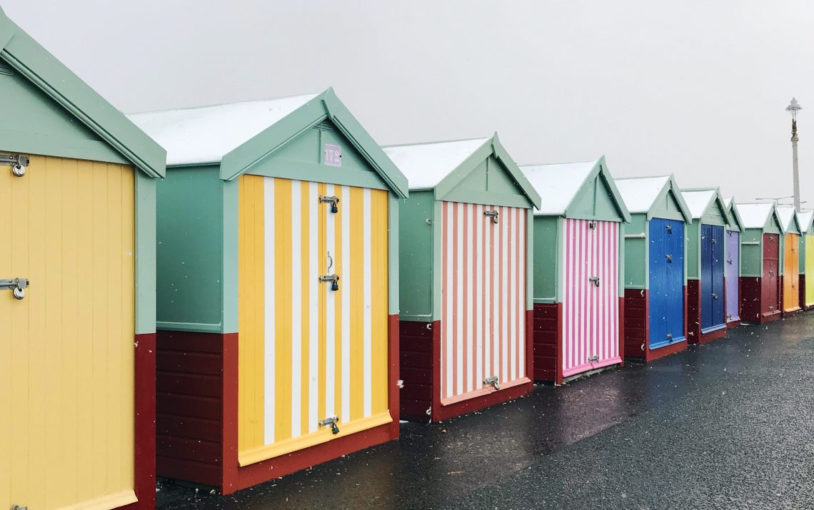 snow beach huts brighton hove