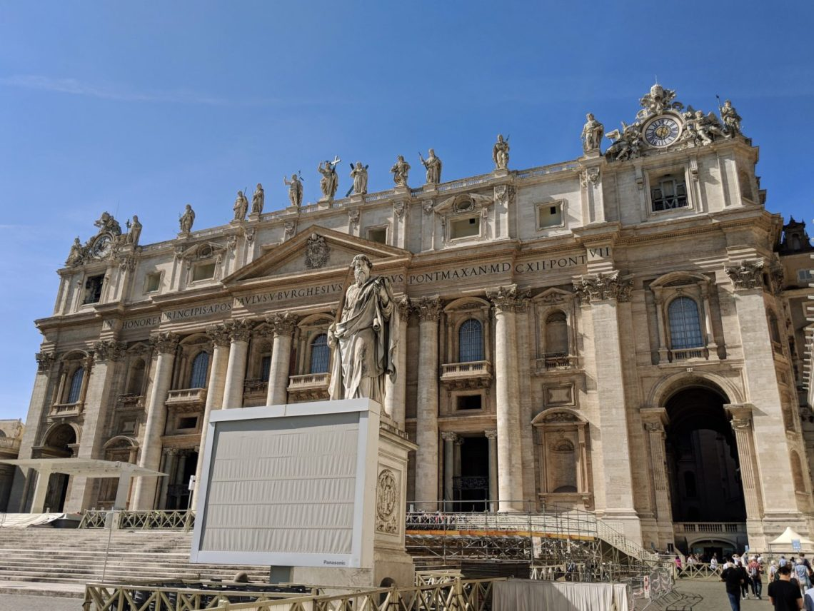 outside of st peters basilica vatican city