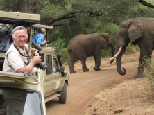 David on safari on Lake Manyara NP