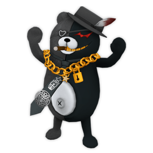 Kurokuma - An adviser for the Warriors of Hope, this all-black Monokuma is characterized by his fast, incessant talking. Apparently, there's a command that the Soldiers of Hope can issue to put him into sleep mode.