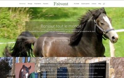 SnapWeb présente le nouveau site frevent.net, élevage de poneys dans le Gers !