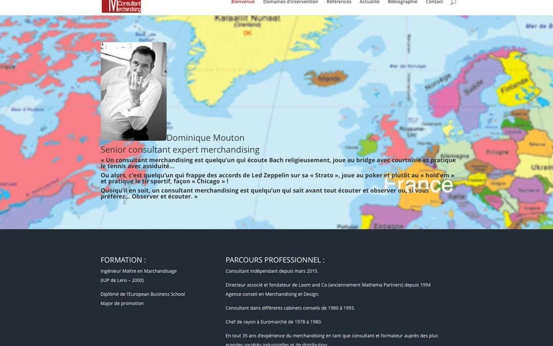 Dominique Mouton, Senior consultant expert merchandising a son site Internet !