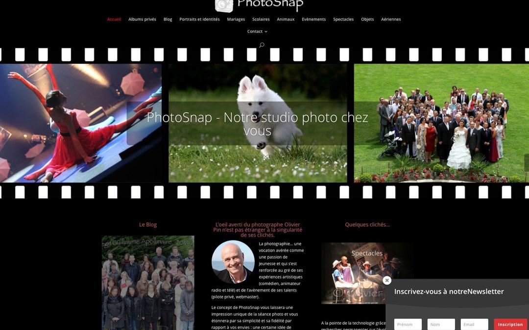 Le nouveau site de PhotoSnap par SnapWeb !