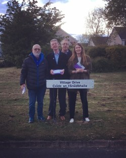 Canvassing with the Meath East branch in Stamullen