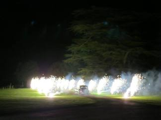 just_married_car_fireworks