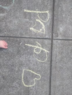 chalk_wrote_papa_first_letters