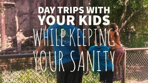 day trips with your kids while keeping your sanity - Snarky Homeschool Moms Podcast