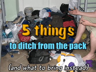 5 things to ditch from the pack