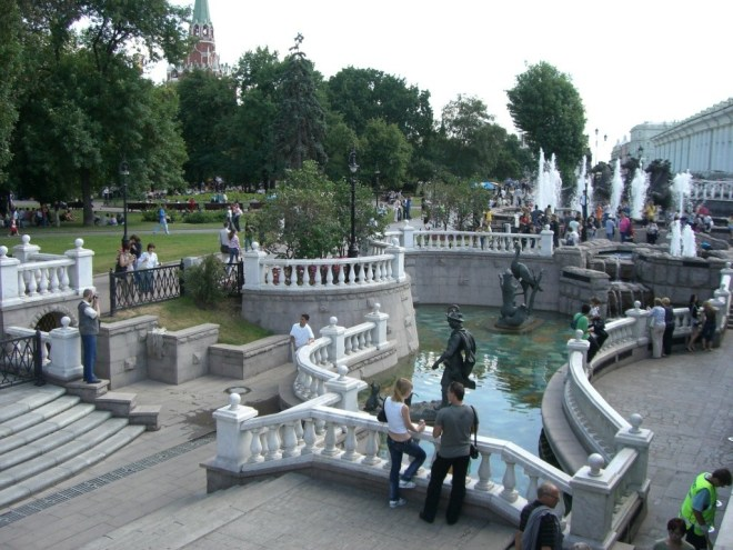 Alexander Gardens, Moscow, Russia