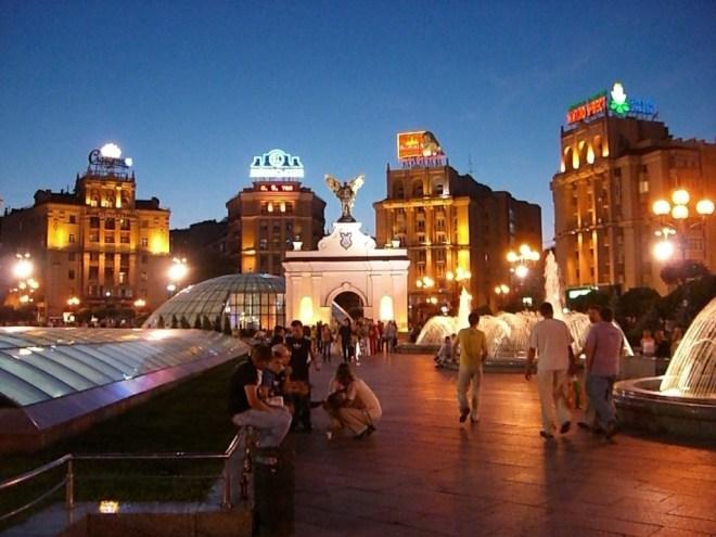 Independence Square, Maidan Nezalezhnosti, Kiev, Ukraine