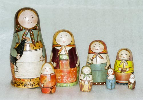 Original Matryoshka nesting doll set