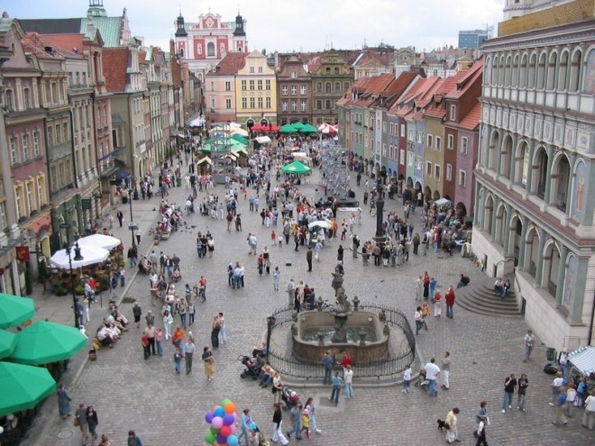 Poznań main square, Poland