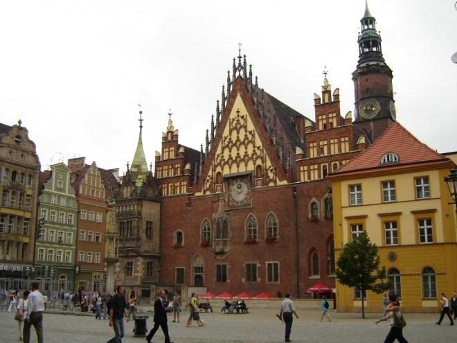 Wrocław town square, Poland